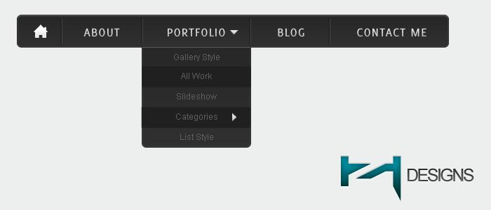 Modern Navigation Bar Free PSD by Henerz-Design