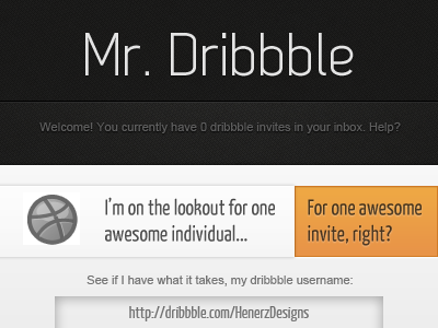 Dribbble Invite Submission - You Decide! by Henerz-Design