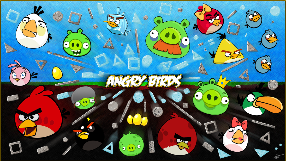 angry birds - wallpapertimdw on deviantart