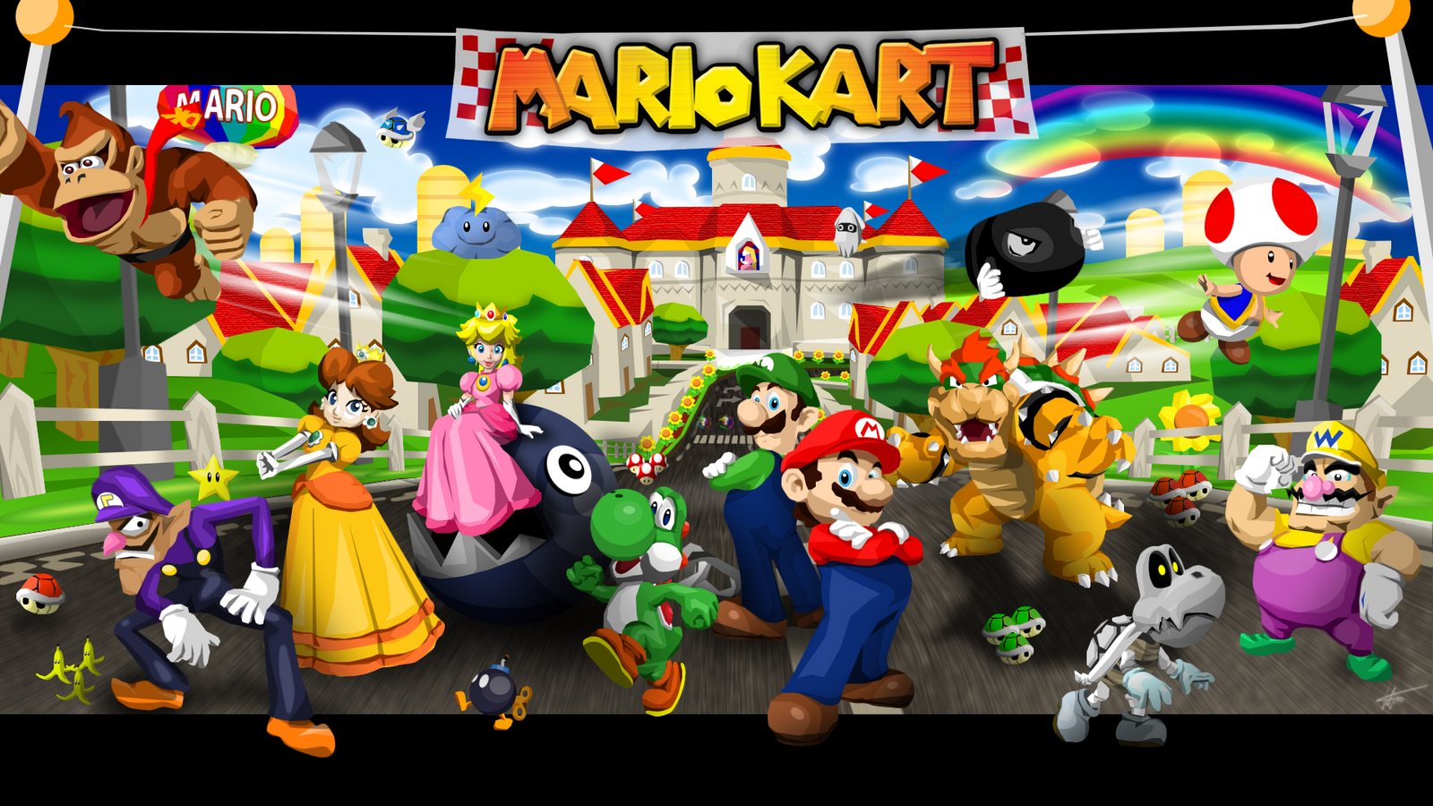 mario kart wallpaper by timdw on deviantart