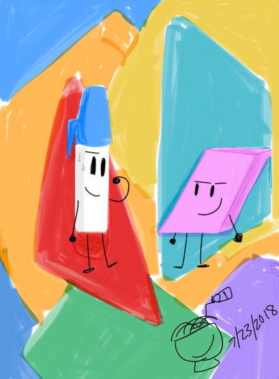 BFB Month Day 29: Pen and Eraser by ChikenDoodleSup on