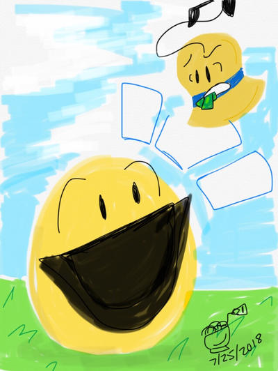 BFB Month Day 25: Yellow Face and Bell by ChikenDoodleSup on DeviantArt