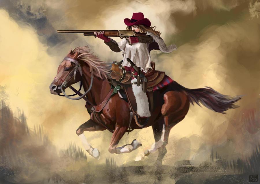 Cowgirl by carloscara