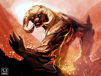 Lava Monster by carloscara