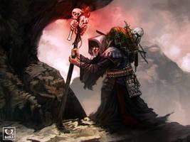 Avillum: Grim Staff by carloscara