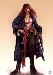 Pirate captain by carloscara