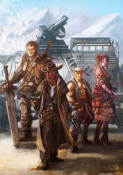 post apocalyptic gang by carloscara