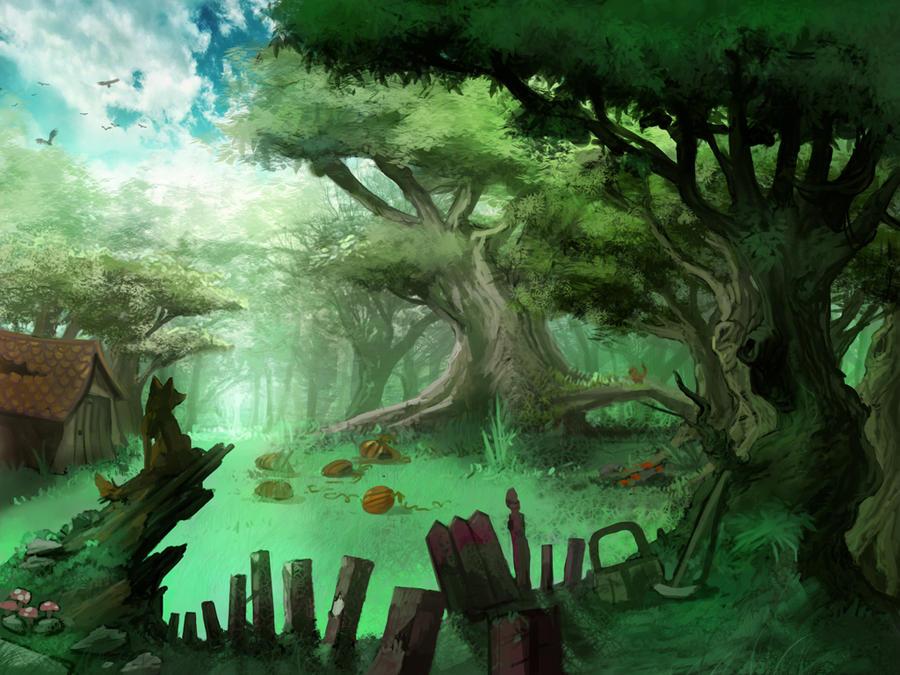 Forest meadow by carloscara