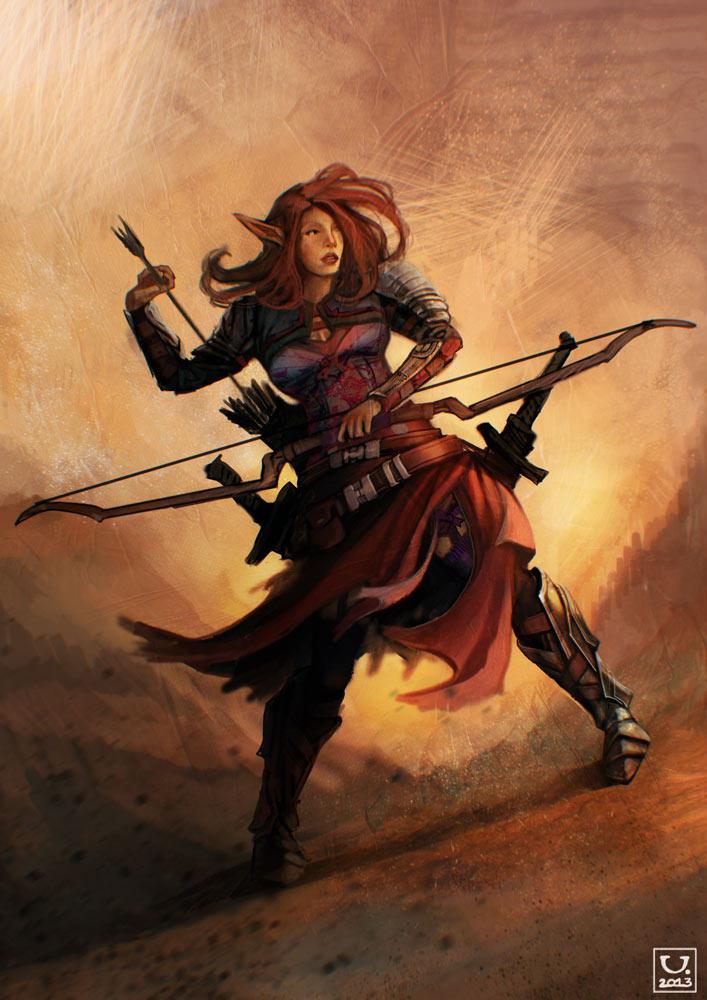 Elf huntress by carloscara