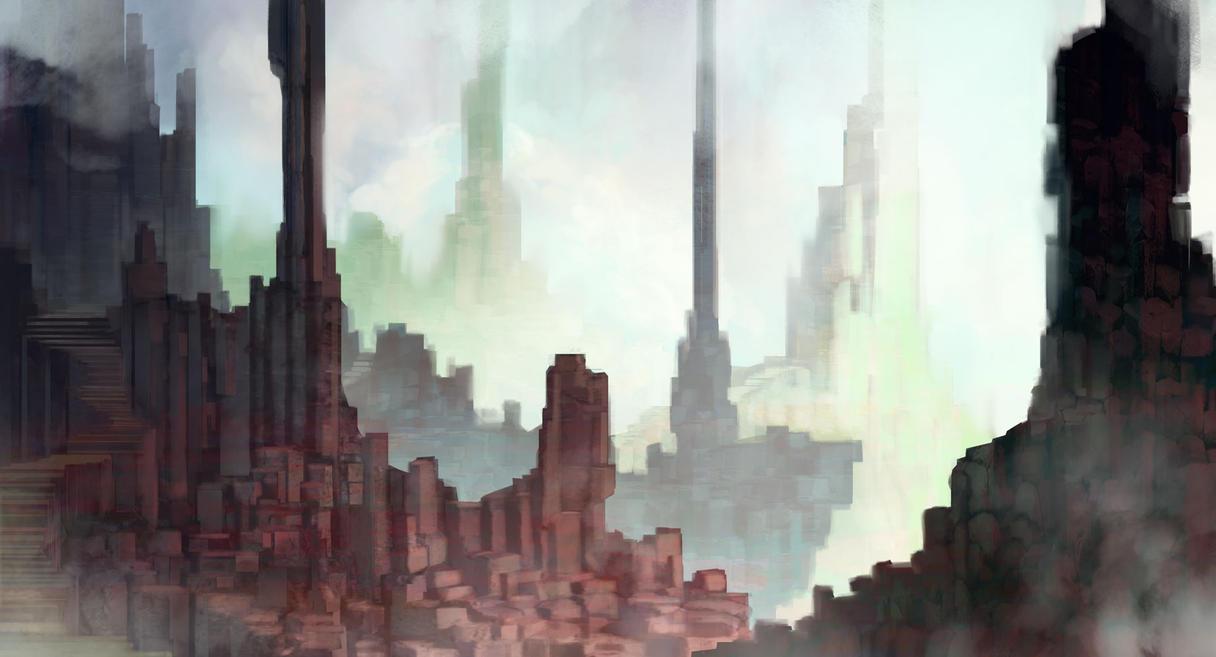 Sky Pillars by carloscara