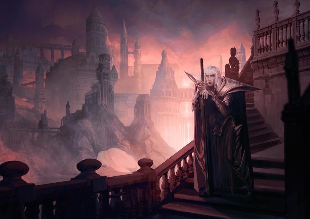 The dusk of Imrryr by carloscara