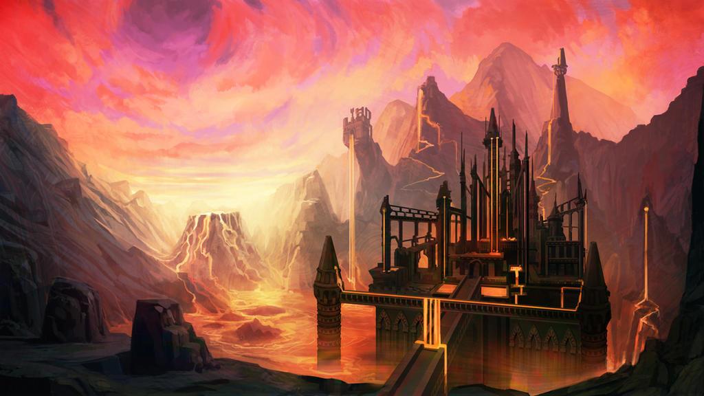 lava fortress by carloscara on deviantart