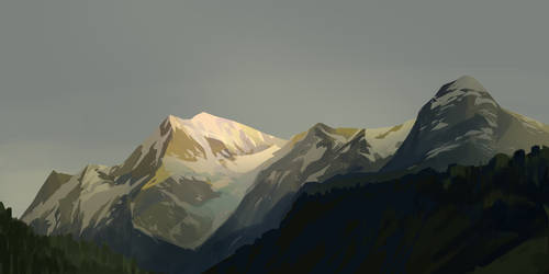 Mountains - May sketch a day 31