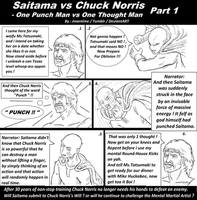 Chuck Norris vs Saitama One Punch Man vs Chuck by jmantime-is-Here