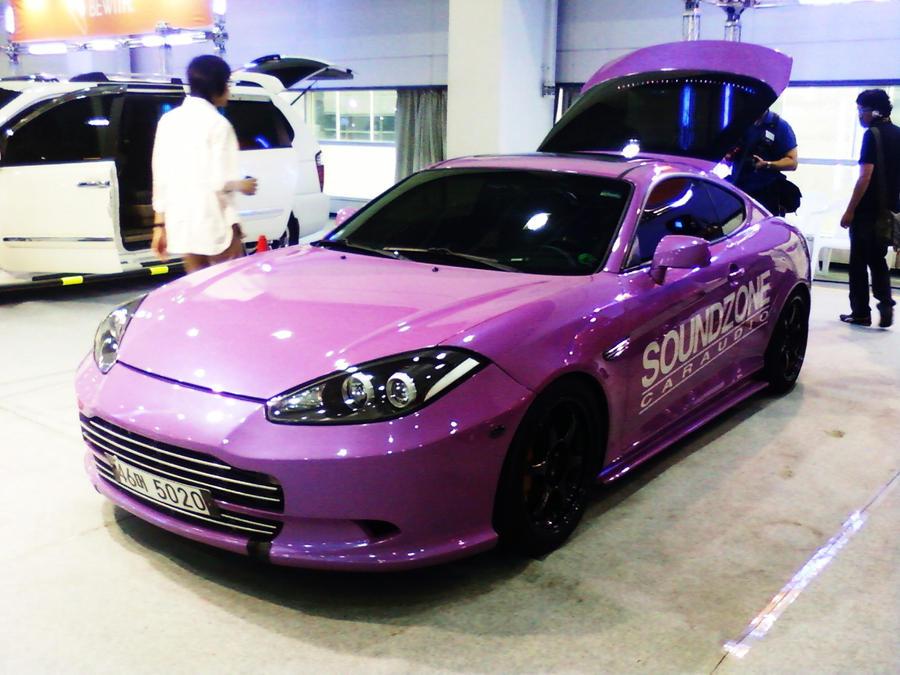Pink Hyundai Tuscani?? 0_O by ~Kia-Motors on deviantART