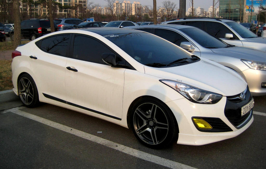 DeviantArt: More Like White Tuned Hyundai Elantra by Kia-Motors