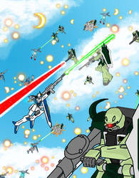 Fighters in the sky by jailgurdnegative