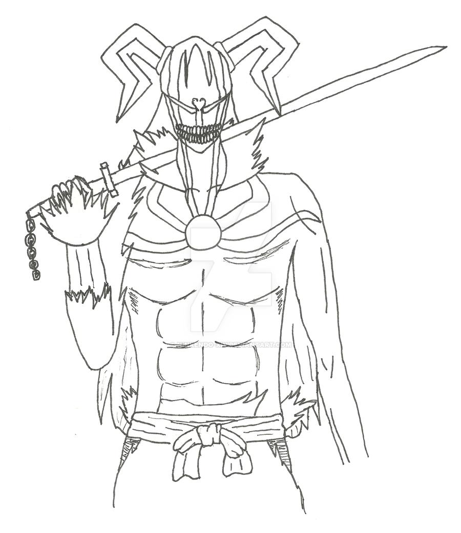 how to draw ichigo full hollow
