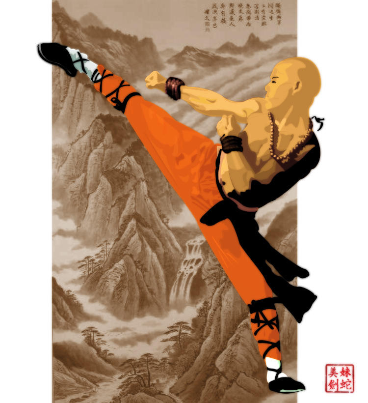 shaolin monk by blackeyedasian on deviantart