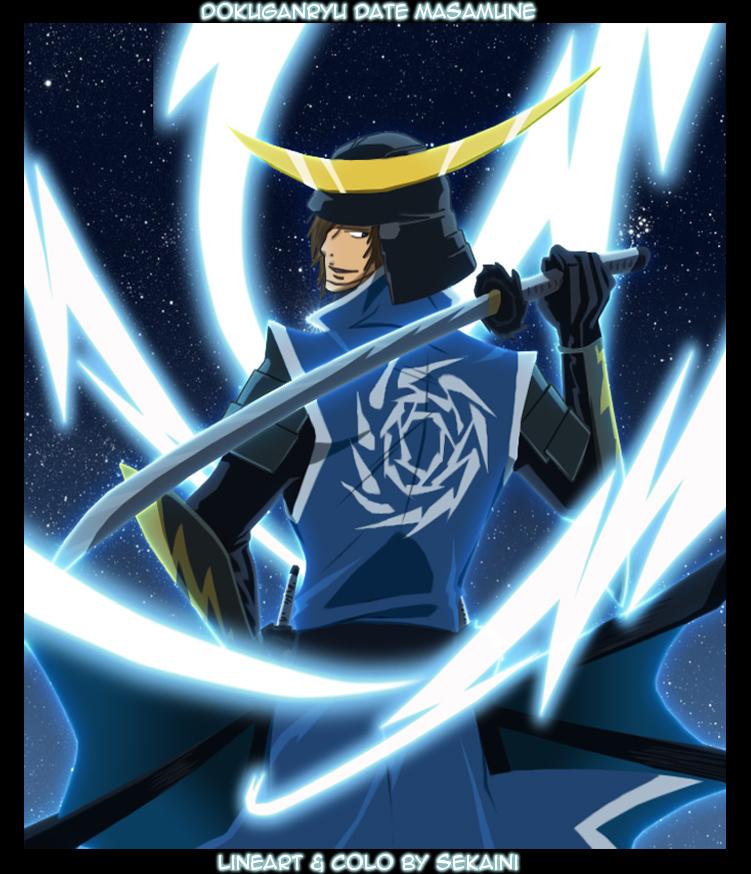 Sengoku Basara Sanada YukimuraDen Masamune leaps