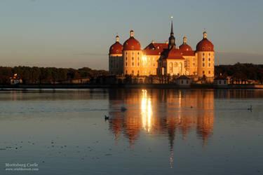 Moritzburg Castle Evening Sun by wiebkerost