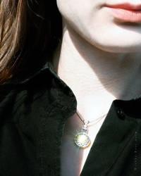 Silver Hendecagram Pendant by wiebkerost