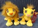 Adult and Cub Simba beanbag plushes - TLK