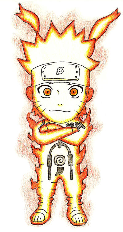 Chibi Naruto Nine-Tailes Chakra Mode by Gallade007 on ...
