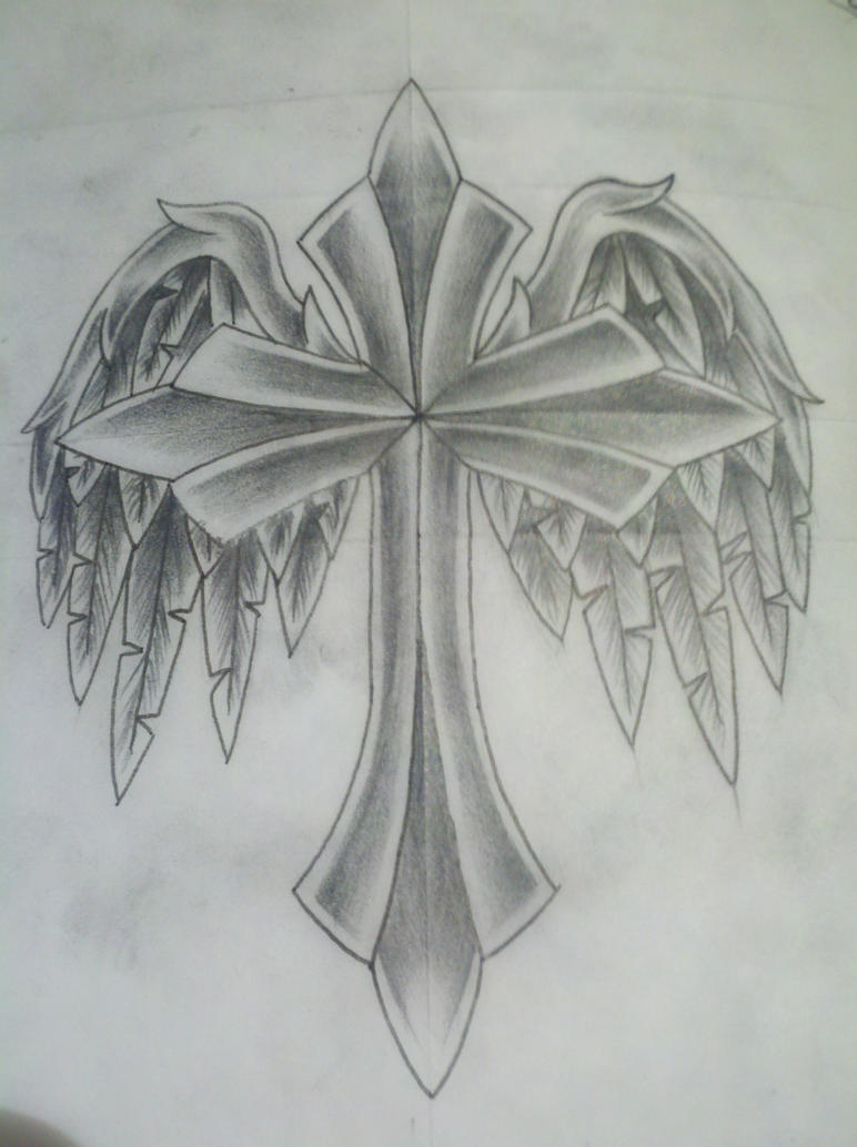 cross with wings by vi...