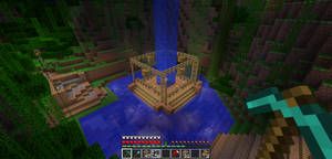 Minecraft Treehouse Base by popking247