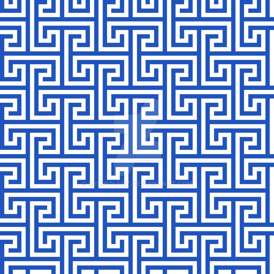 Geometric Pattern: Key Bridge Interlock+: Blue by redwolfoz