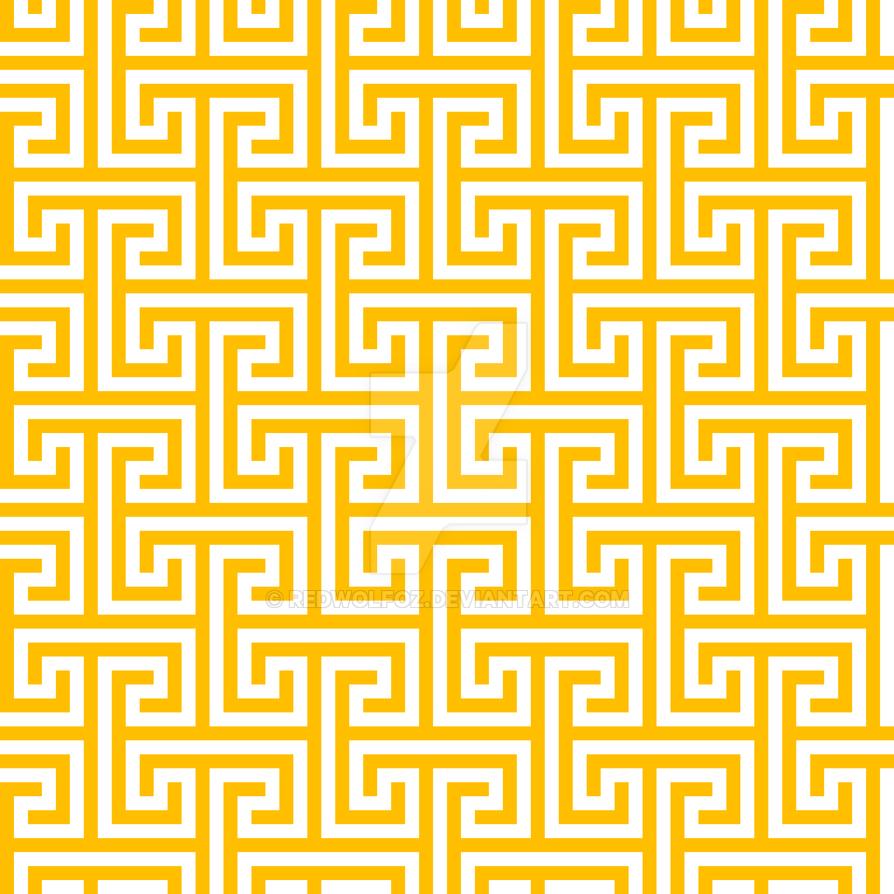 Geometric Pattern: Key Bridge Interlock+:  Yellow by redwolfoz