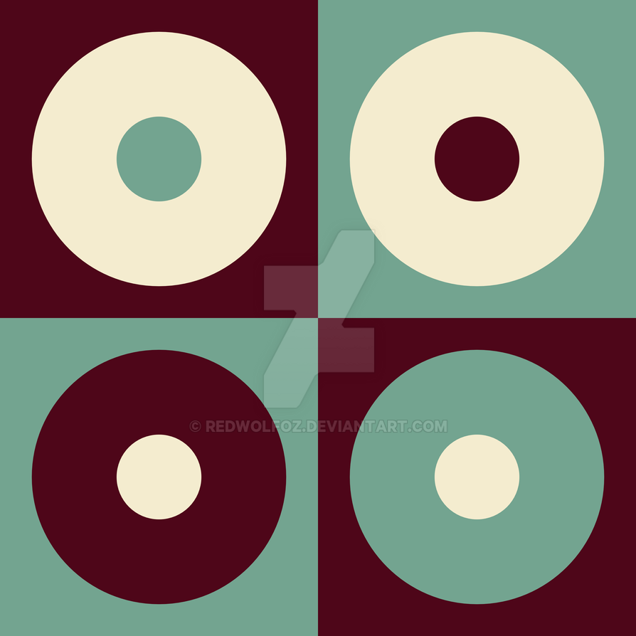 Geometric Pattern: Circles: Brown/Green by redwolfoz