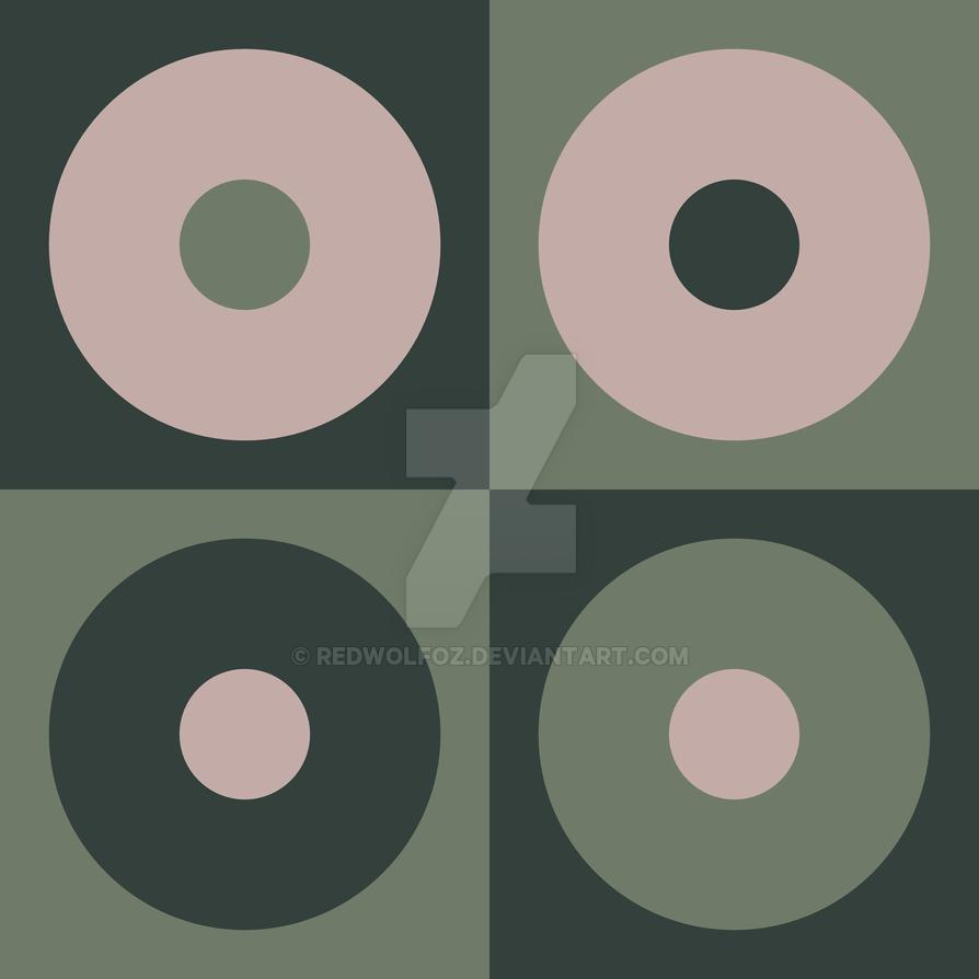 Geometric Pattern: Circles: Cacti by redwolfoz