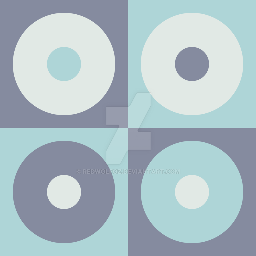 Geometric Pattern: Alternating Circles: Sea Foam by redwolfoz