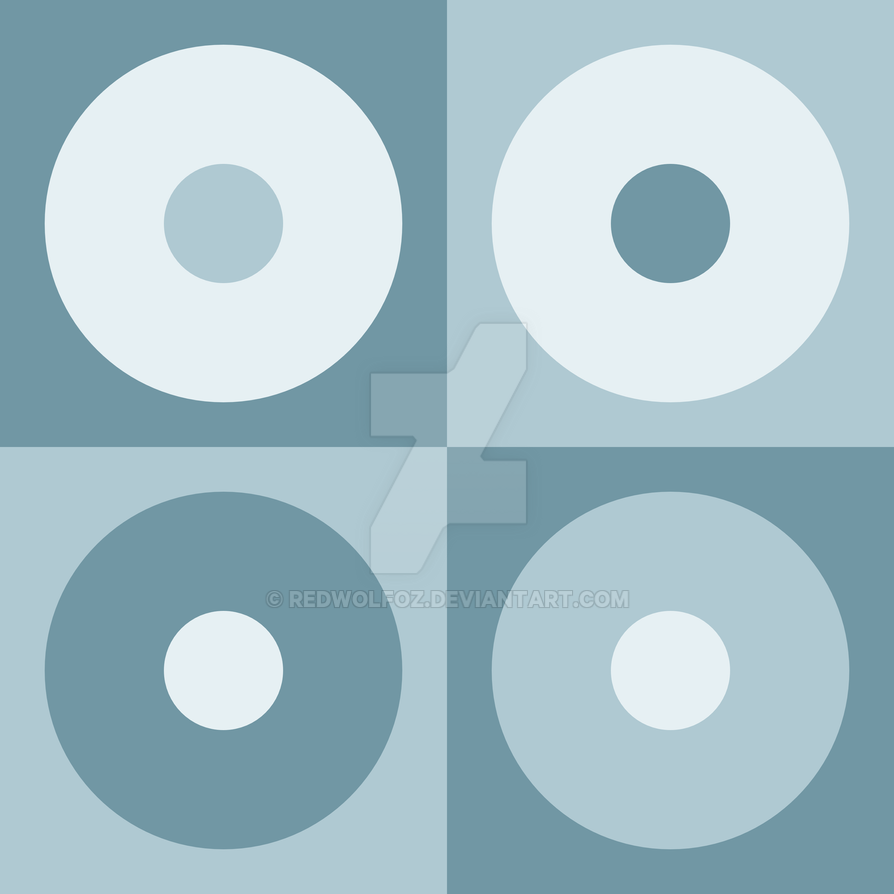 Geometric Pattern: Alternating Circles: Sea by redwolfoz