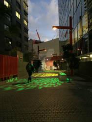 Fire Horse Lane lights by redwolfoz
