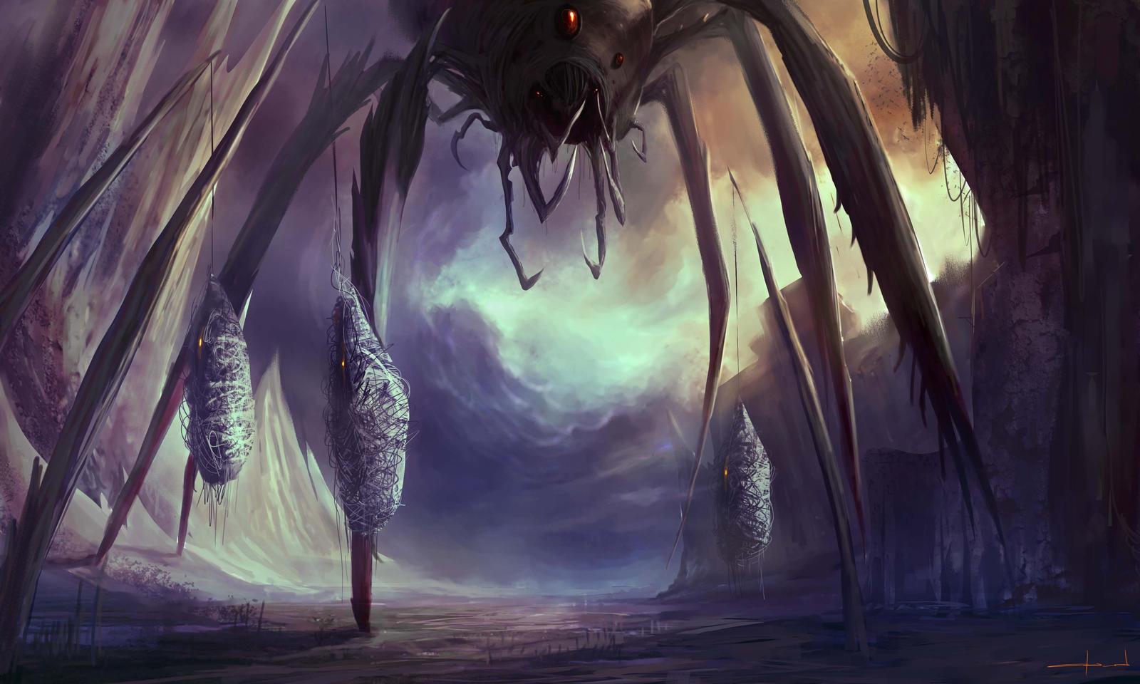 Giant Black Widow by Darkcloud013