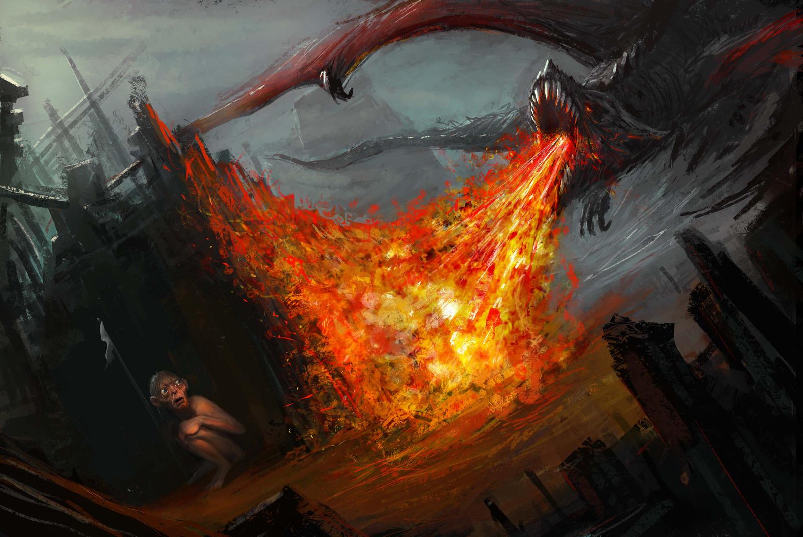 Gollum Fan art by Darkcloud013