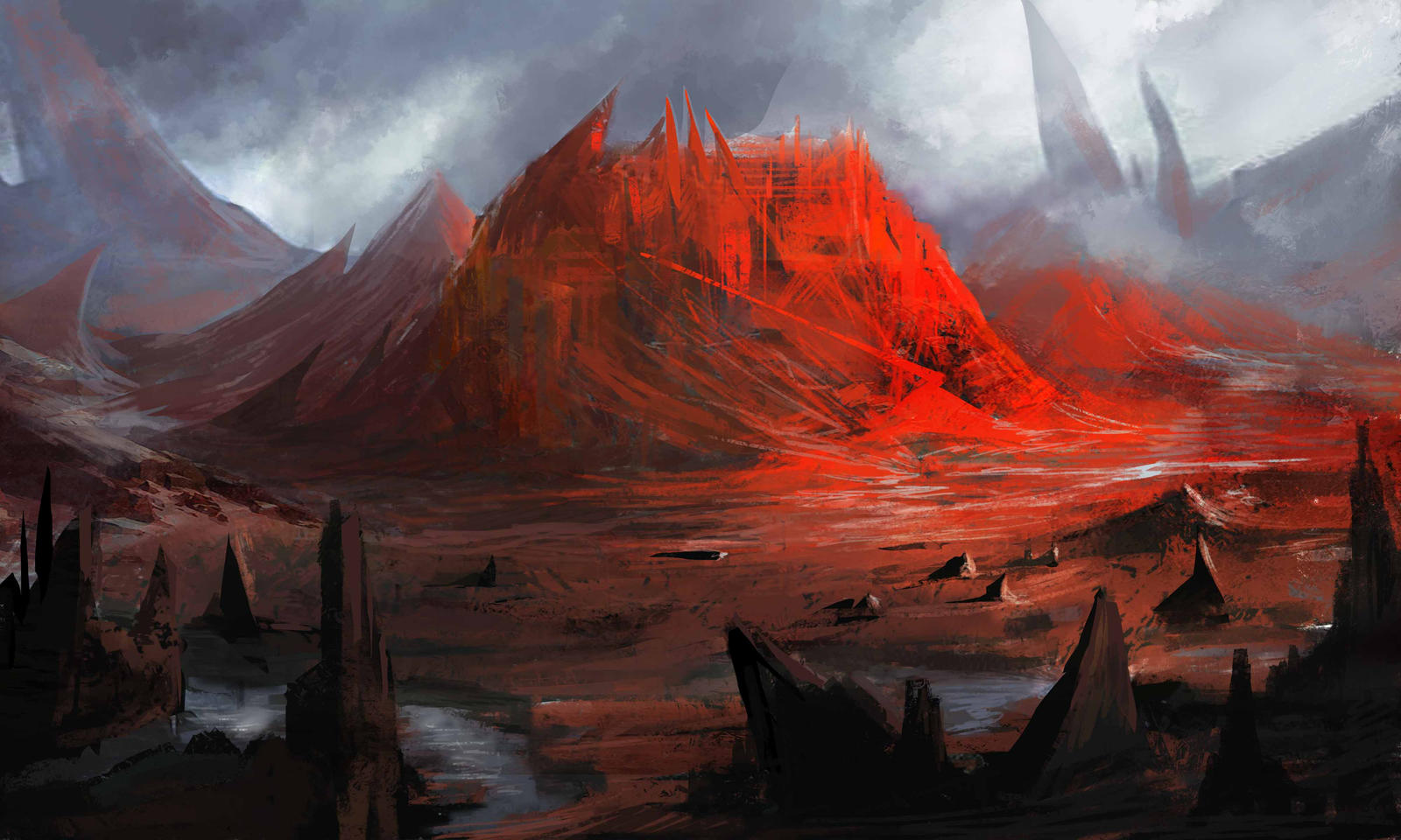Red Mountain by Darkcloud013