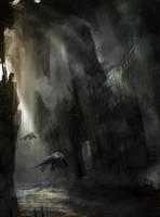 Speedy sci fi church by Darkcloud013