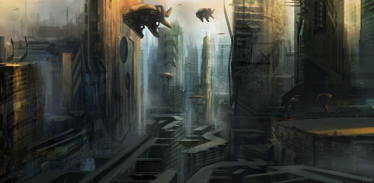 Enviro sketch by Darkcloud013