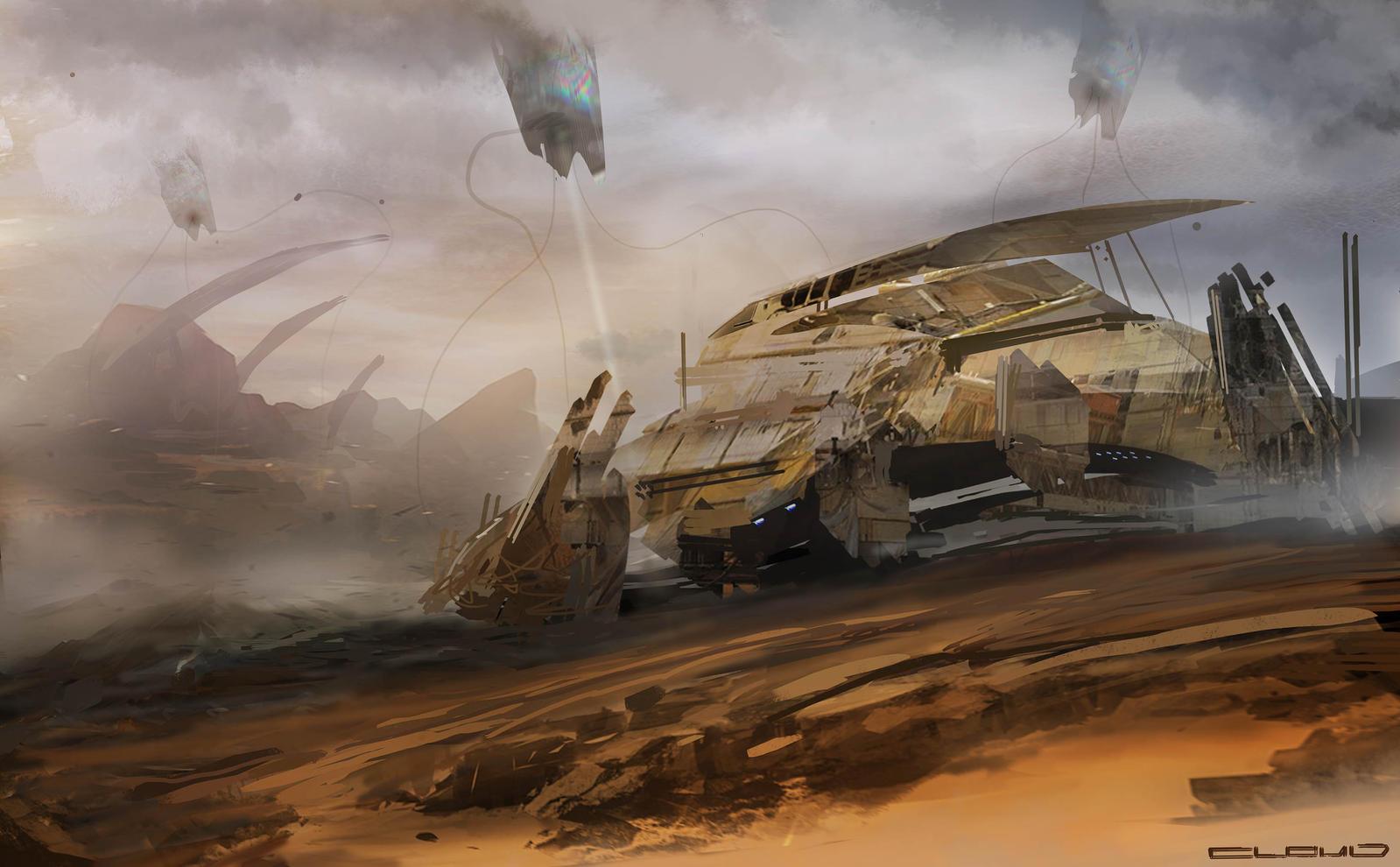 Desert speed paint by Darkcloud013