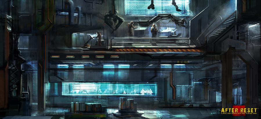 UG Bunker Interior-cargo store by Darkcloud013