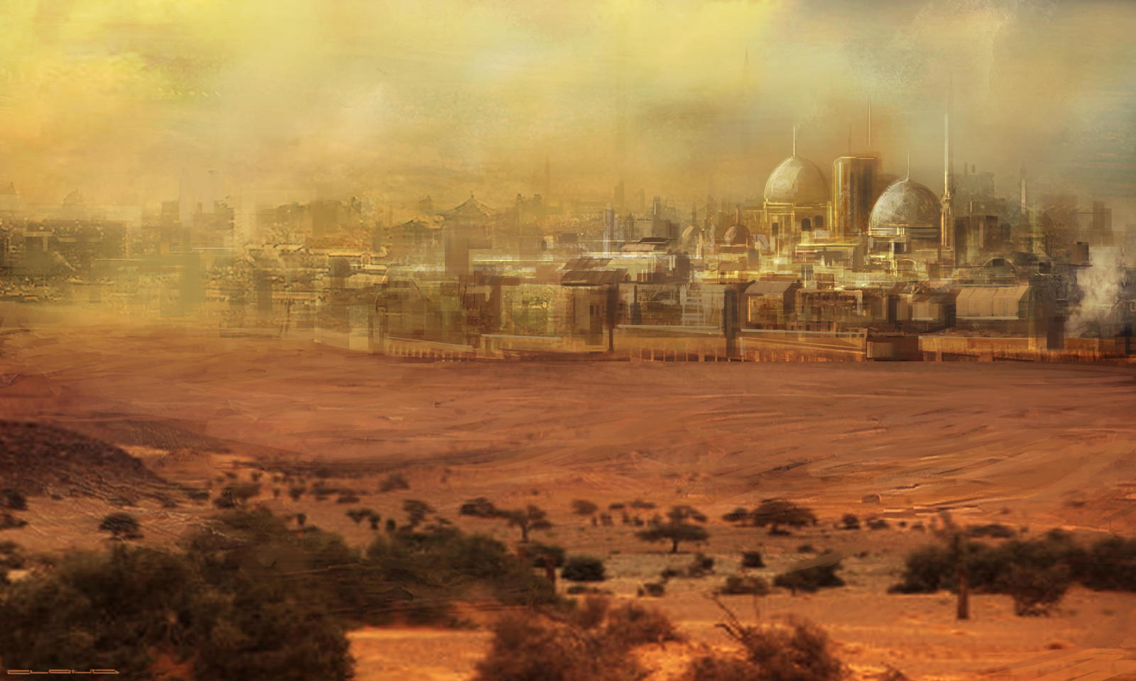 large desert city DVG