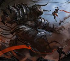 Battle Minotaur by Darkcloud013