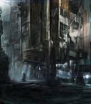 Scene in the Slums