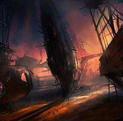 Spaceship construction yard by Darkcloud013