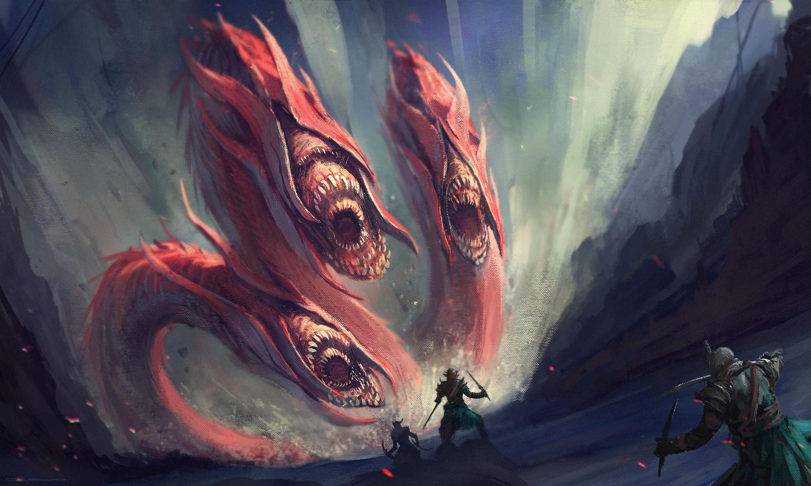 Galeria de Arte: Ficção & Fantasia 1 - Página 5 Three_headed_suckers_by_darkcloud013-d7x6zz7