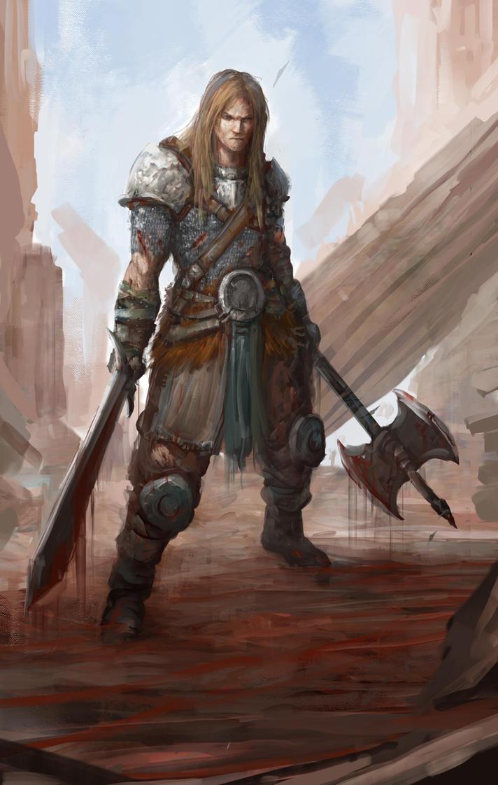Warrior concept by Darkcloud013
